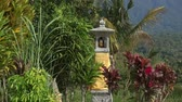 hit : Traditional Balinese house of spirits on rice field, Bali, Indonesia