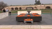 mahatma : Rajghat, A Memorial To Mahatma Gandhi, New Delhi Stock Footage