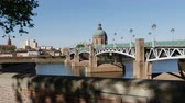 túmulo : Toulouse (Pont Saint Pierre) Stock Footage