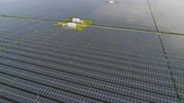 firma : Aerial Mega solar power plant Wideo