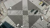 шины : TimeLapse - Landscape of scrambled intersection in Tokyo Sekiyabashi in Japan