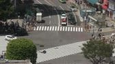 TimeLapse - Landscape of scrambled intersection in Tokyo Shibuya in Japan