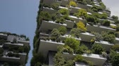best : Milan, Italy - Mai 2017: Bosco Verticale or Vertical Forest is the Best tall building worldwide. Is composed of two residential towers with a large variety of trees and plants on the balconies. Stock Footage