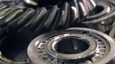 frayed : Metal parts of a car Stock Footage