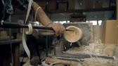wood : Manufacturing of a traditional toy on a lathe machine