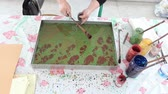 vodní : Marbling - The art of painting on the water.
