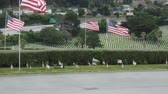 honra : Memorial Day observance at Golden Gate National Cemetery in San Bruno, California.