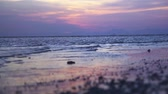 Tropical sunset Railay beach Krabi Stock Footage