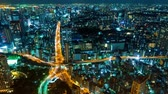 tower : Tokyo Cityscape time lapse from Tokyo tower. Super high resolution 4K Stock Footage