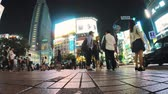 landmark : Shibuya Station foot traffic time lapse May 23, 2014 in Tokyo, JP. Shibuya is one of busiest stations in the world.