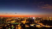 budynek : Miami skyline timelapse at night from above Wideo