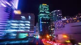 metro : Point of view timelapse (hyperlapse) of Downtown Miami from the Miami Metromover at night.  High definition 1080p (also available in 4K). Clip contains the complete