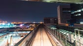 ferrovia : POV time lapse through Tokyo via the automated guideway transit Stock Footage