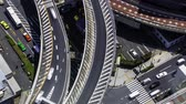 деталь : Multihour aerial view timelapse of a massive highway intersection in Shinjuku Tokyo Japan.