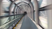 escada rolante : Time lapse up and down the Sky Escalator of the Umeda Sky Building in Osaka, Japan. Stock Footage