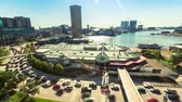 rychlost : Aerial view timelapse of Baltimore Inner Harbor during morning rush hour Dostupné videozáznamy