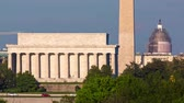 yönetme : Time-lapse of the Lincoln Memorial, Washington Monument, and the Capitol Building - the Big Three - at sunset