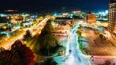 wolk : Timelapse van de stad lichten van Asheville, North Carolina in de nacht Stockvideo