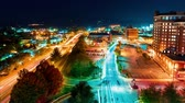 budynek : Timelapse of the city lights of Asheville, North Carolina at night Wideo