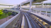 auto : Point of view real-time ride through Kobe Japan on the Portliner Monorail