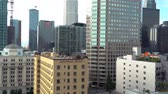 View of Downtown Los Angeles buildings in the afternoon Стоковые видеозаписи