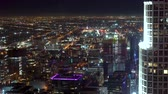 escuro : View of Downtown Los Angeles at night Stock Footage