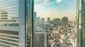 Time-lapse of Tokyo skyline and skyscrapers in Higashishinbashi Stock Footage