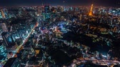 Time-lapse of Tokyo at night from Roppongi