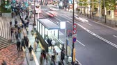 Time-lapse of people and traffic outside Tokyos World Trade Center