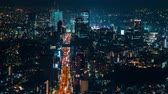 auto estrada : Time-lapse of Shibuya, Tokyo at night from high above Vídeos