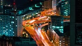 Time-lapse of Tokyo highways at night