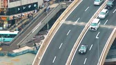 Aerial view of a highway in Shibuya, Tokyo, Japan Stock Footage