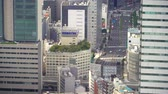 editorial : Aerial view of Tokyo traffic high above the district of Toranomon
