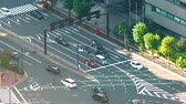 tokio : Aerial view of Tokyo traffic high above the district of Toranomon