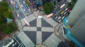 tokyo : TOKYO, JAPAN - SEP, 26 2017: Time-lapse of a busy intersection in Ginza, Tokyo, Japan