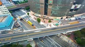 auto estrada : Time-lapse of busy roads and bridges in Ginza, Tokyo, Japan