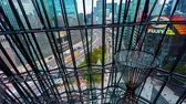 japão : Time-lapse of Ginza, Tokyo as seen through the metal facade of a shopping mall