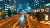 intersection : Time-lapse of a highway in Shibuya, Tokyo, Japan