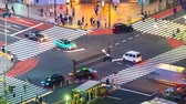 intersection : Time-lapse of a busy intersection in Shibuya, Tokyo, Japan