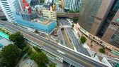 intersection : Time-lapse of busy roads and bridges in Ginza, Tokyo, Japan