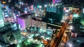 tokio : Time-lapse of the bus station in Shibuya, Tokyo, Japan