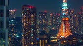tokyo : Time-lapse of Tokyo Tower in Minato, Tokyo, Japan Stock Footage