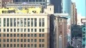 View of Downtown Los Angeles buildings in the afternoon Wideo