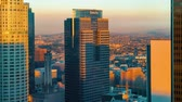 LOS ANGELES - NOV, 15 2017: Sunset time-lapse of Downtown Los Angeles skyscrapers