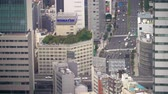 japão : Aerial view of Tokyo traffic high above the district of Toranomon