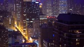 CHICAGO - SEPTEMBER 18th 2018: Downtown Chicago cityscape tilting upwards Wideo