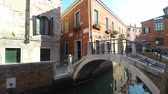 Bridge over canal view in Venice, Italy
