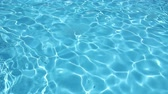 Background of clean water in a blue swimming pool