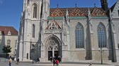 statue : Budapest, Hungary - May 8, 2016: The Matthias Church, the Fishermens Bastion.
