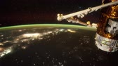 questões : Planet Earth and Aurora Borealis seen from the the International Space Station ISS Stock Footage